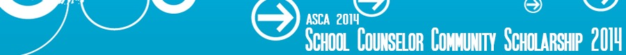 School Counselor Community Scholarship Award Post - ASCA 2014 Recipients 1 on The Counseling Geek