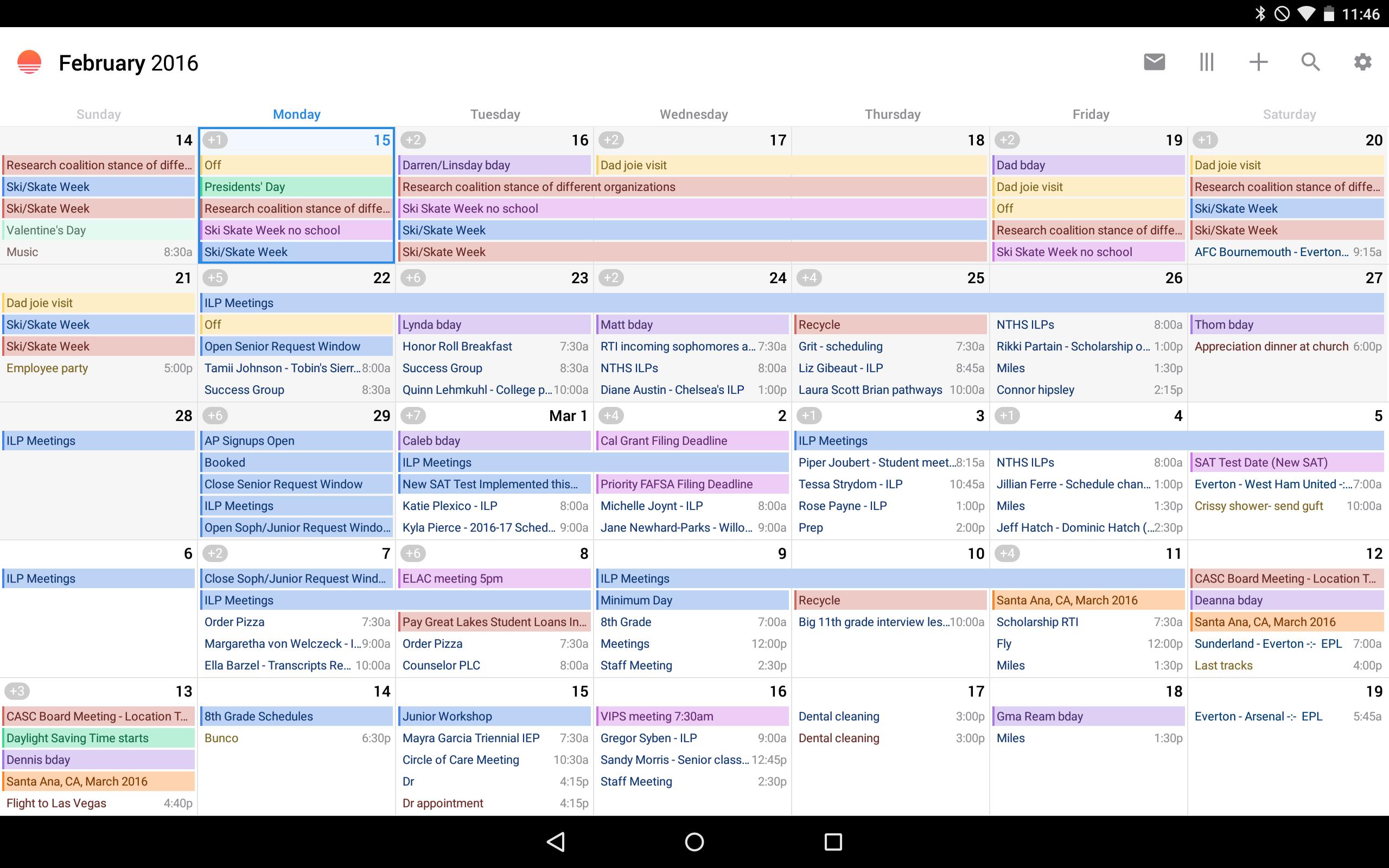 Month View - Sunrise Calendar