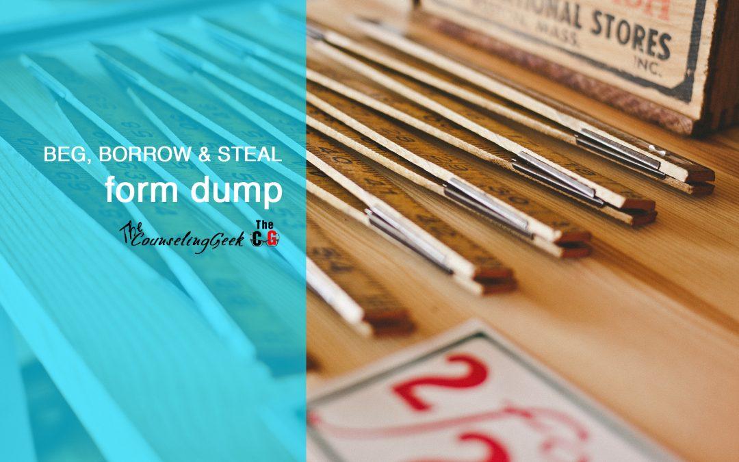 Beg, Borrow and Steal: Form Dump