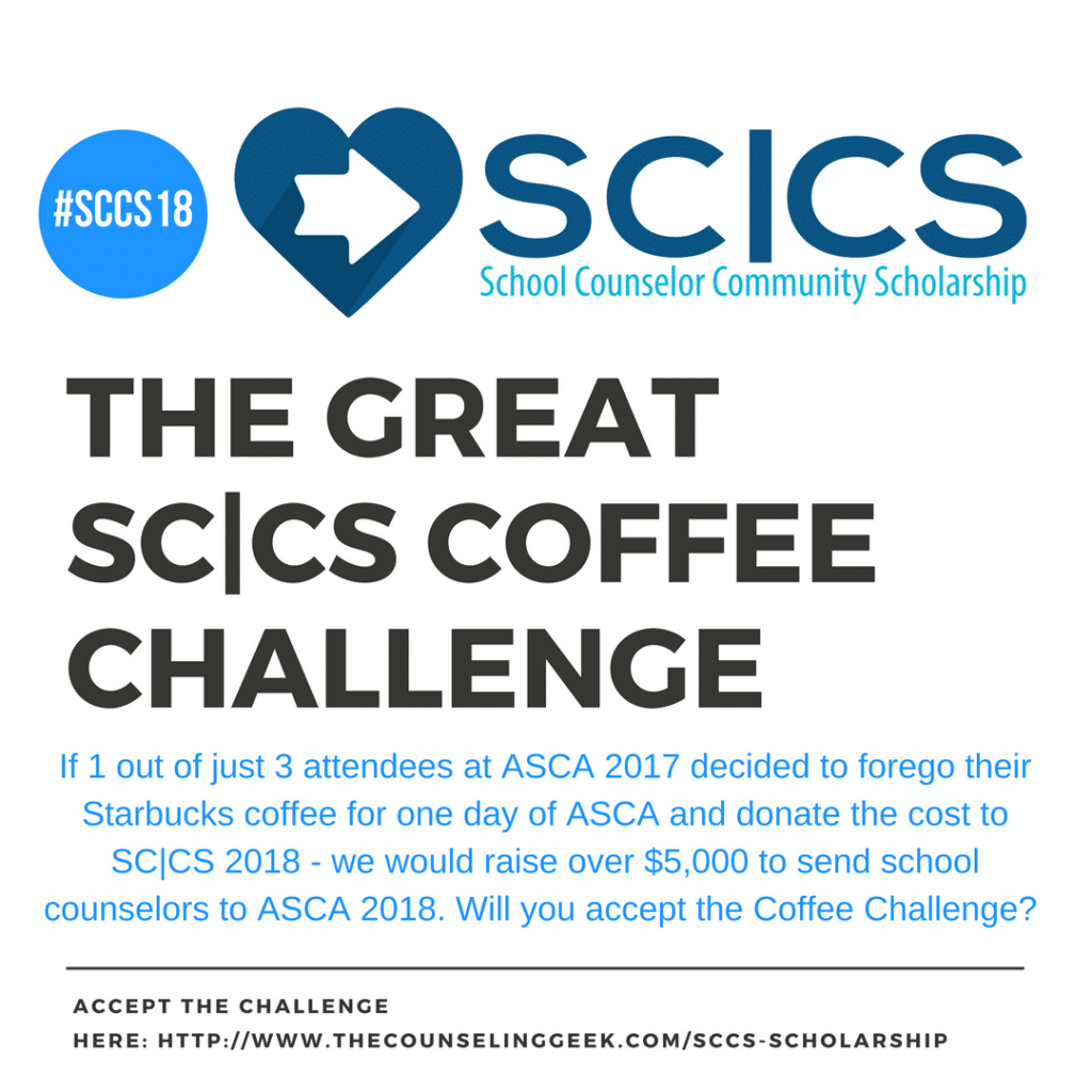 Support School Counselors: The Great SC|CS Coffee Challenge 2 on The Counseling Geek