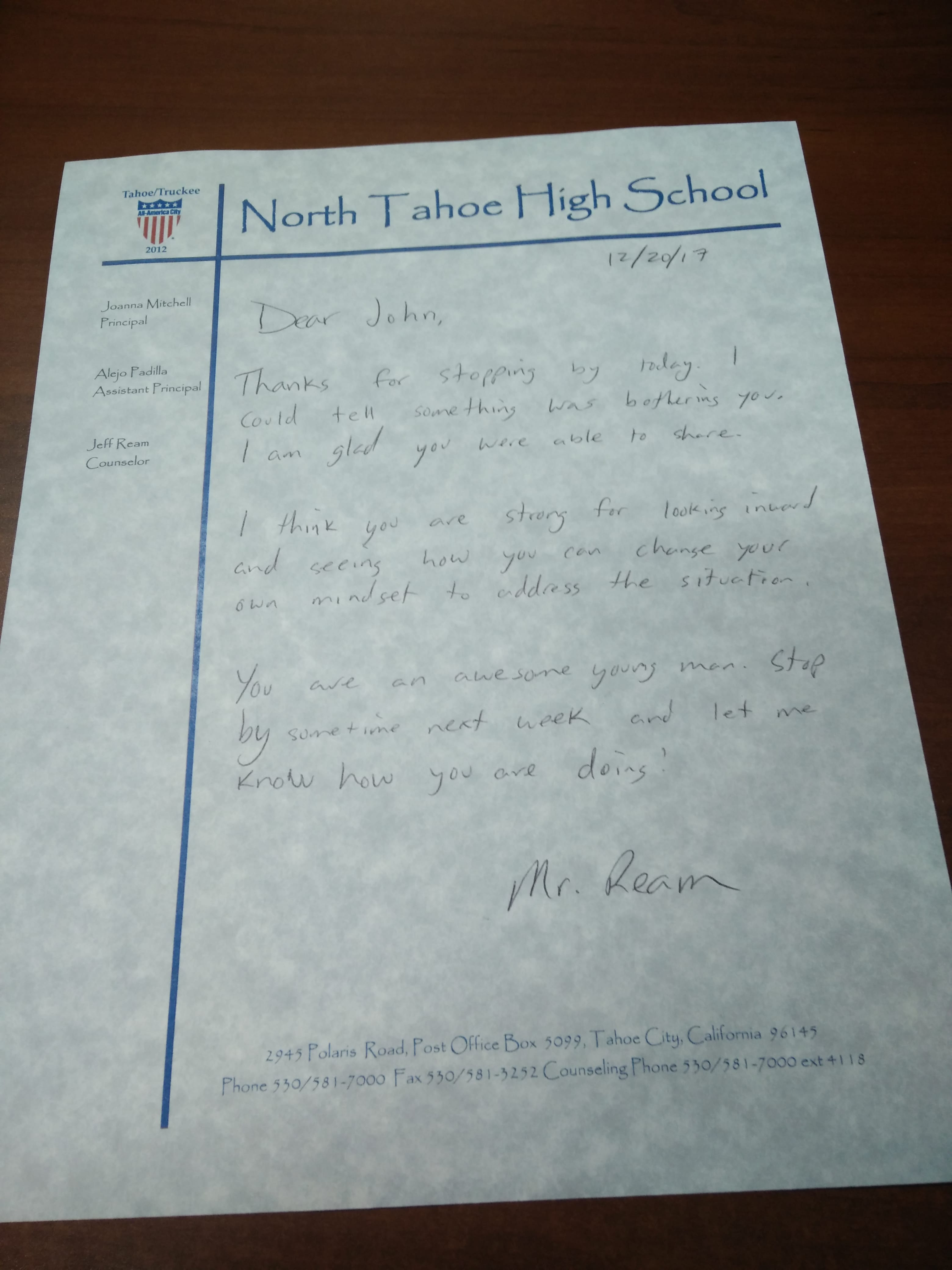 Writing Letters Home to Continue Your Counseling Connections 2 on The Counseling Geek